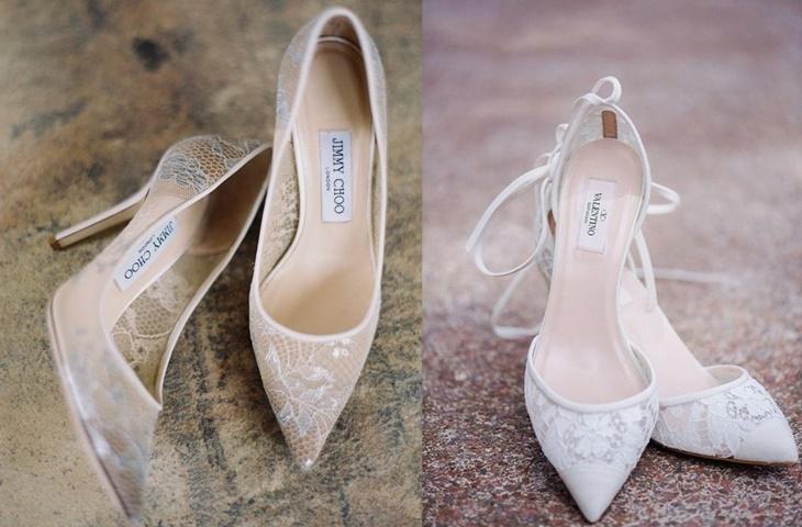 chaussures de mariage en dentelle